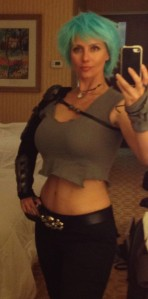 My Cambria cosplay. I did crunches for weeks.