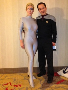 My Seven of Nine ran into his Mr. Sulu.