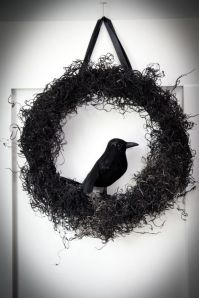 A simple but cool wreath by Boxwood Slippings.