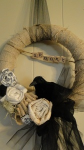 Jump on the burlap craze with this wreath by Farm Chic.